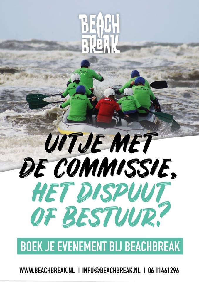 Beach Break Teamuitje - Bedrijfsuitje - teambuilding - Commissiefeest - Dispuutfeest - Bestuursuitje